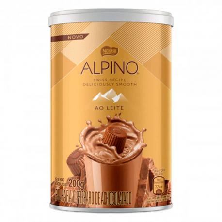 Achocolatado em Pó Alpino Lata 200gr