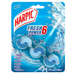 Bloco Sanitário Harpic Fresh Power6 Marine