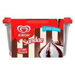Sorvete Kibon Sundae 1,4lt Leite Trufado
