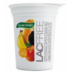 Iogurte Lacfree 140gr Banana Maçã Mamão
