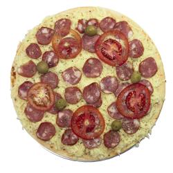 Pizza Pré Assada Calabresa Irmãos Patroc